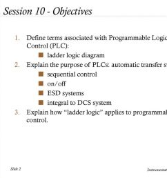 session 10 objectives define terms associated with programmable logic control plc ladder [ 1024 x 768 Pixel ]