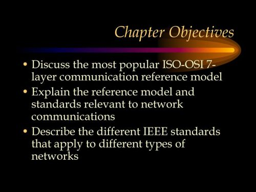 small resolution of chapter objectives discuss the most popular iso osi 7 layer communication reference model