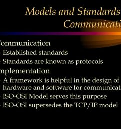 models and standards in communication [ 1024 x 768 Pixel ]