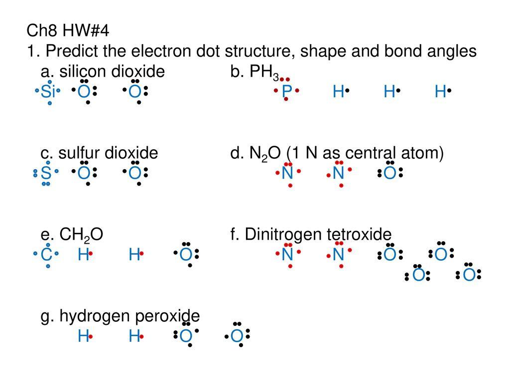 Silicon Dioxide Dot Diagram