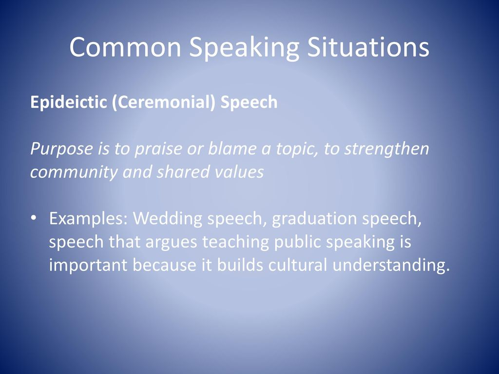 8 Common Speaking Situations