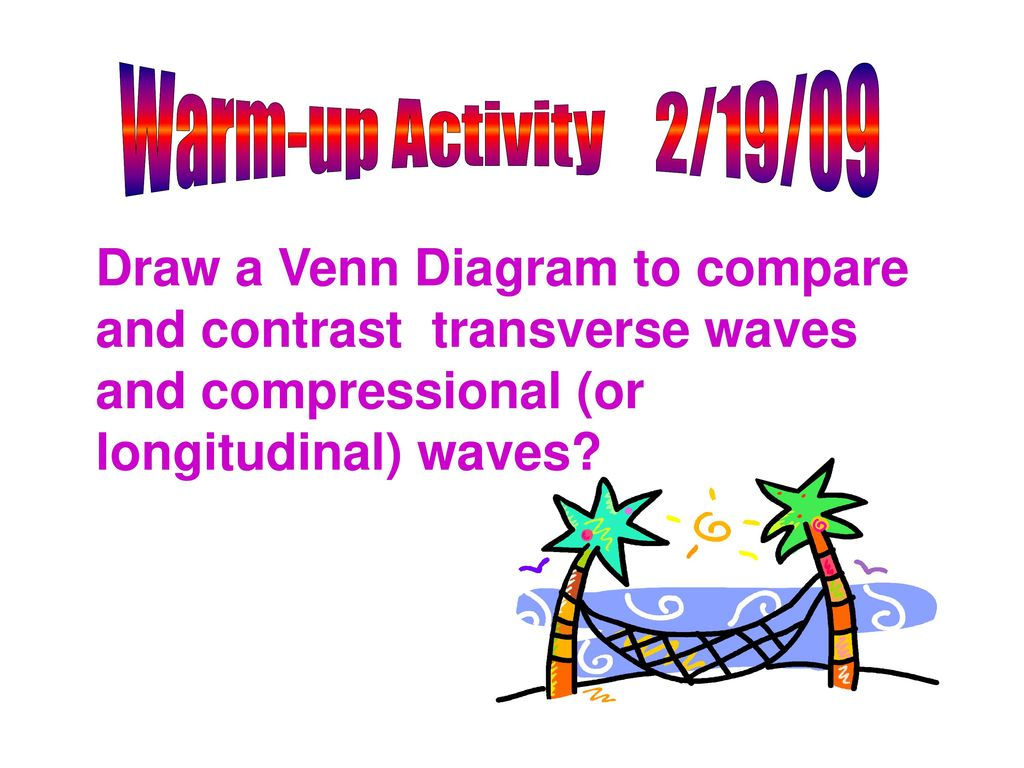 venn diagram of transverse and longitudinal waves a sentence for me comprehension check ppt download 23 warm up activity 2 19 09 draw to compare contrast