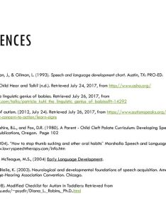 references also overview of speech and language development ppt download rh slideplayer