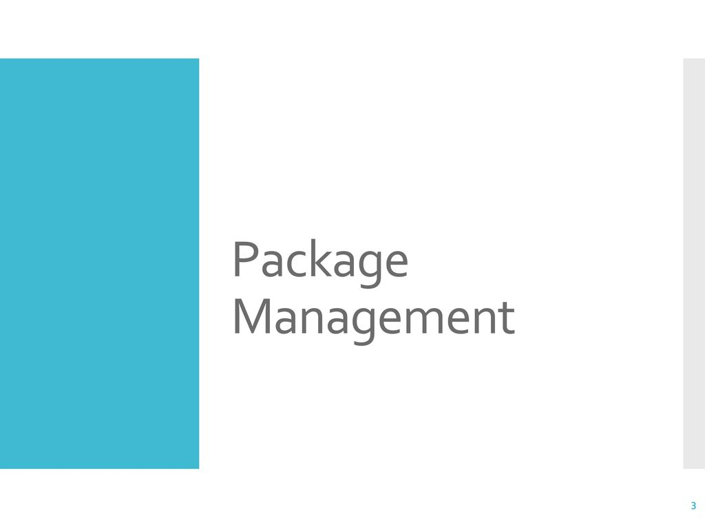 3 Package Management