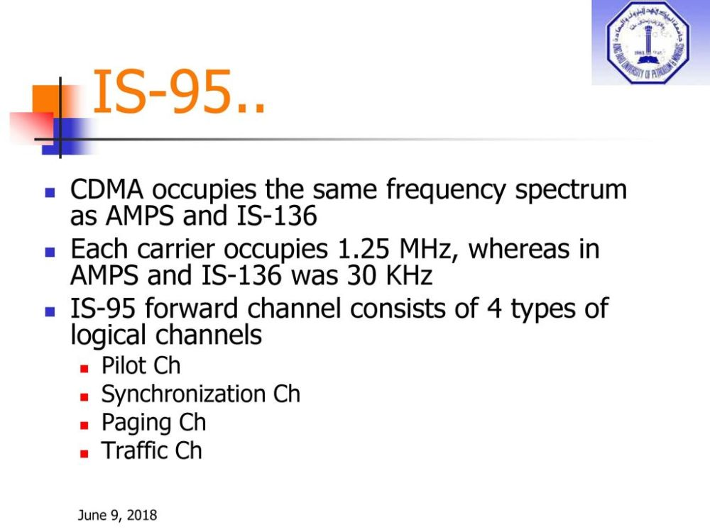 medium resolution of is 95 cdma occupies the same frequency spectrum as amps and is