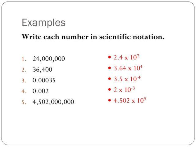 25-25 Scientific Notation Goals: - ppt download