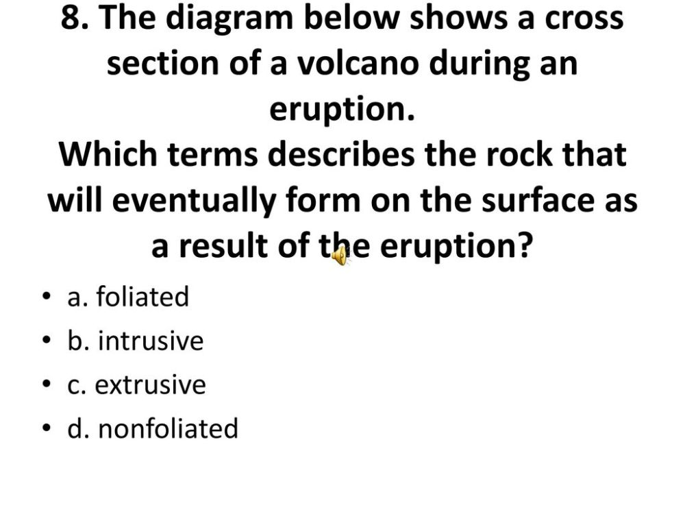 medium resolution of the diagram below shows a cross section of a volcano during an eruption