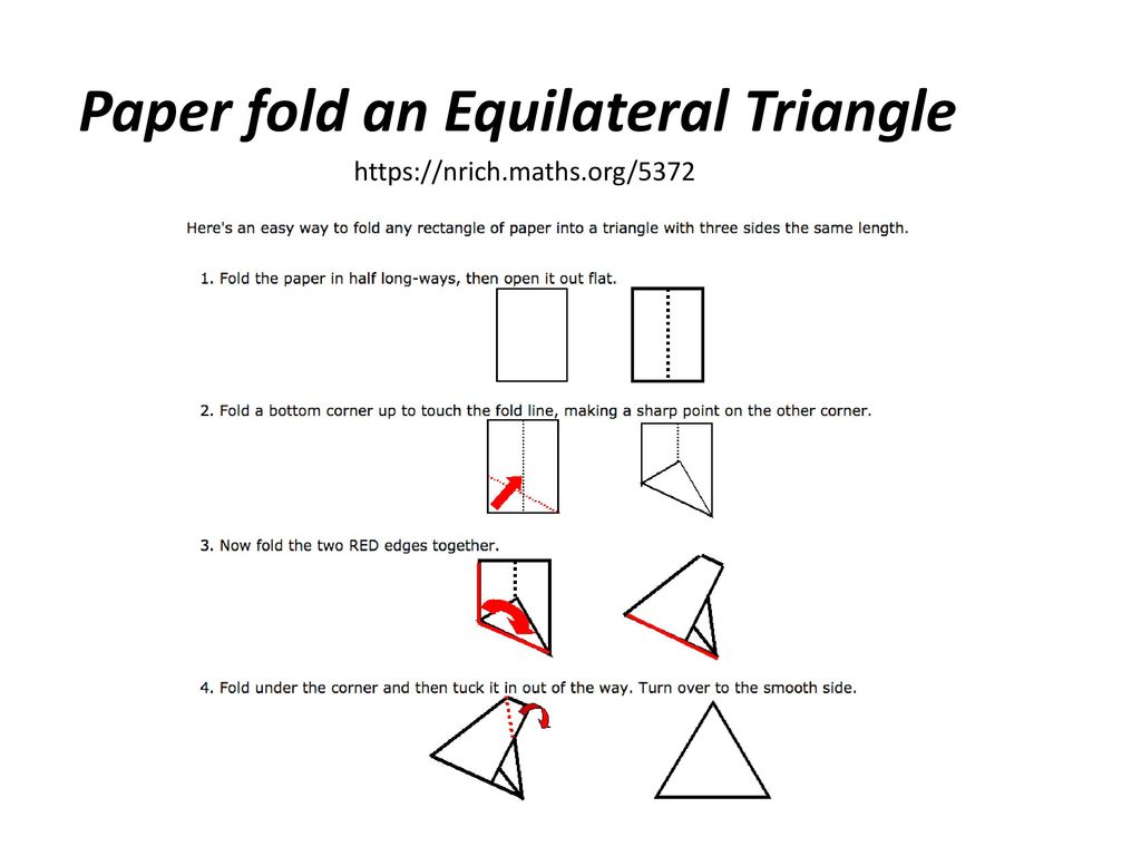Midsegments In Triangles Paper Folding Activity Math T