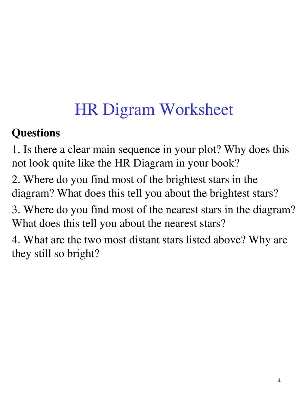 hight resolution of clear hr diagram wiring diagram technic assignment 6 due oct 20 put the stars on the
