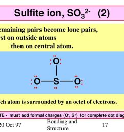 sulfite ion so32 2 o s remaining pairs become lone pairs  [ 1024 x 768 Pixel ]