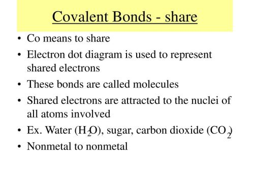 small resolution of covalent bonds share co means to share