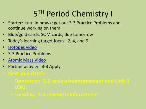 small resolution of 5th period chemistry i next due dates