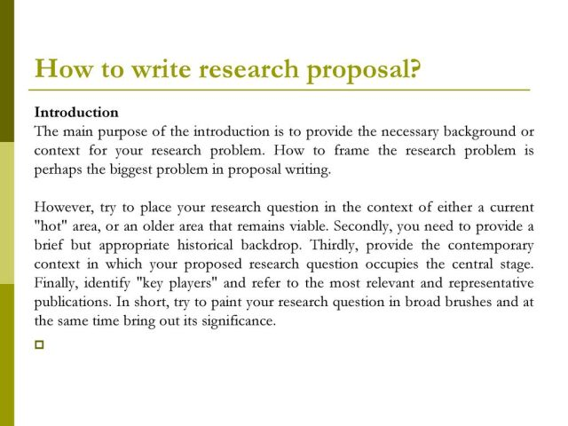 How to write a good research proposal 22/22/ ppt download