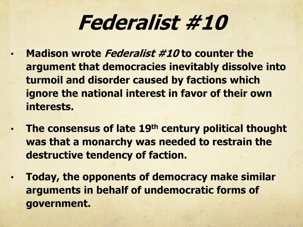 Federalist Ppt Download
