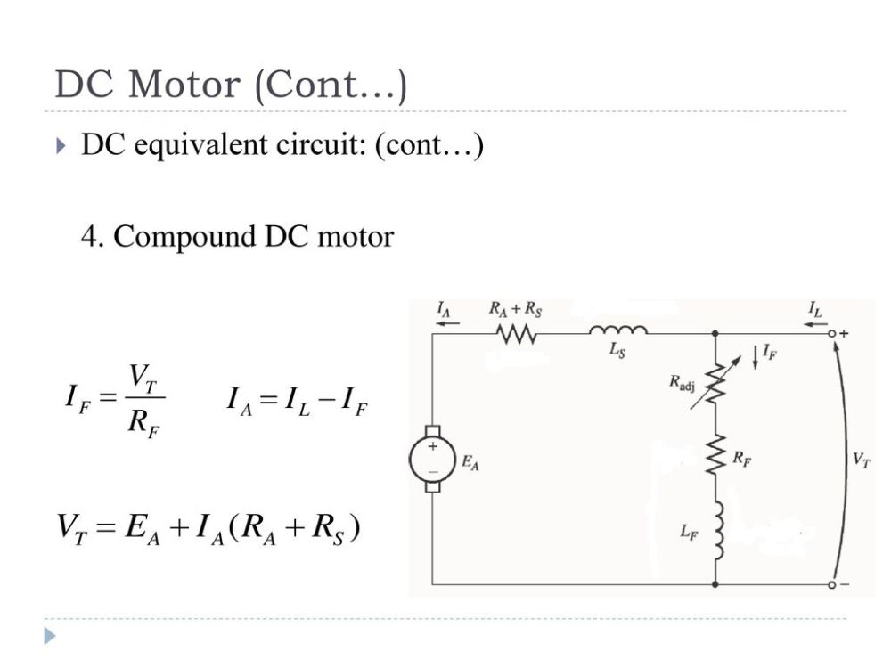 medium resolution of dc equivalent circuit cont 4 compound dc motor
