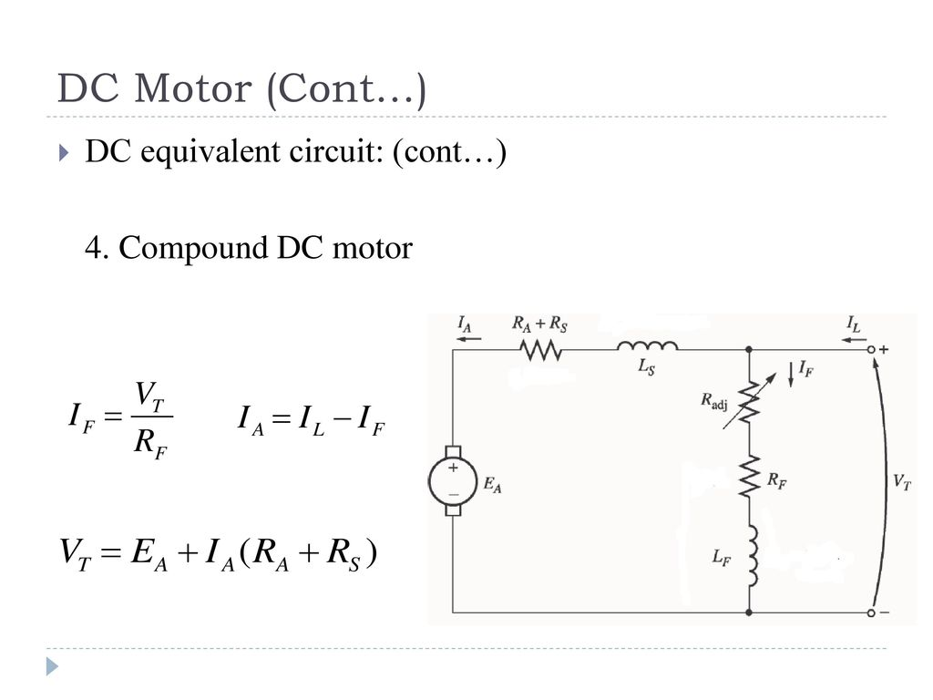 hight resolution of dc equivalent circuit cont 4 compound dc motor
