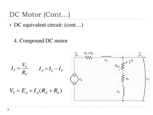 small resolution of dc equivalent circuit cont 4 compound dc motor