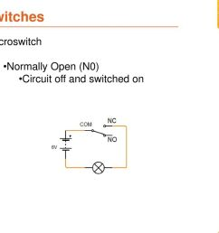 14 switches microswitch normally open n0 circuit off and switched on [ 1024 x 768 Pixel ]