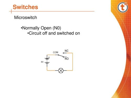 small resolution of 14 switches microswitch normally open n0 circuit off and switched on