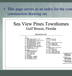 5 index page x 01 this page serves as an index for the complete construction drawing set index [ 1024 x 768 Pixel ]