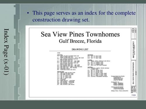 small resolution of 5 index page x 01 this page serves as an index for the complete construction drawing set index