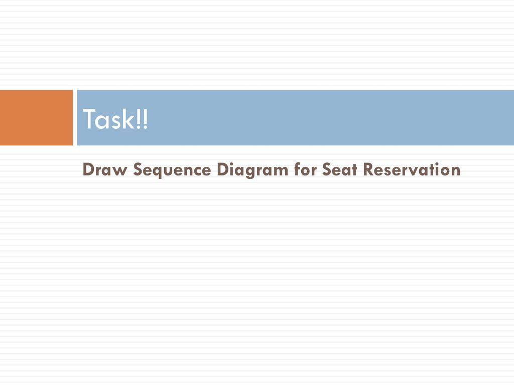 hight resolution of draw sequence diagram for seat reservation