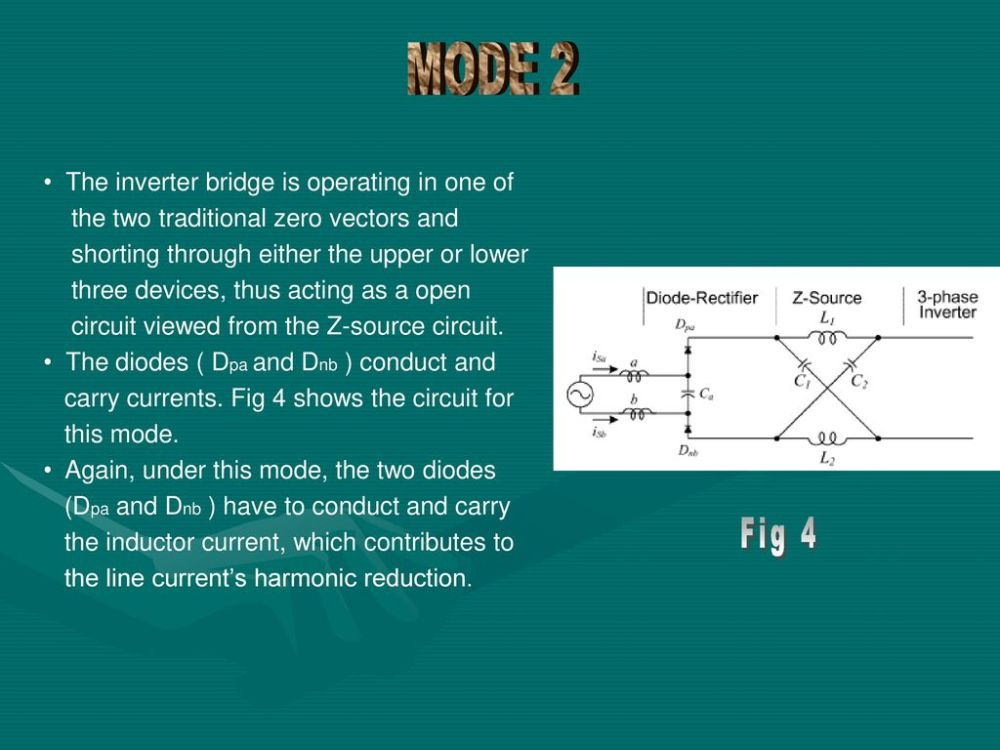 medium resolution of mode 2 fig 4 the inverter bridge is operating in one of