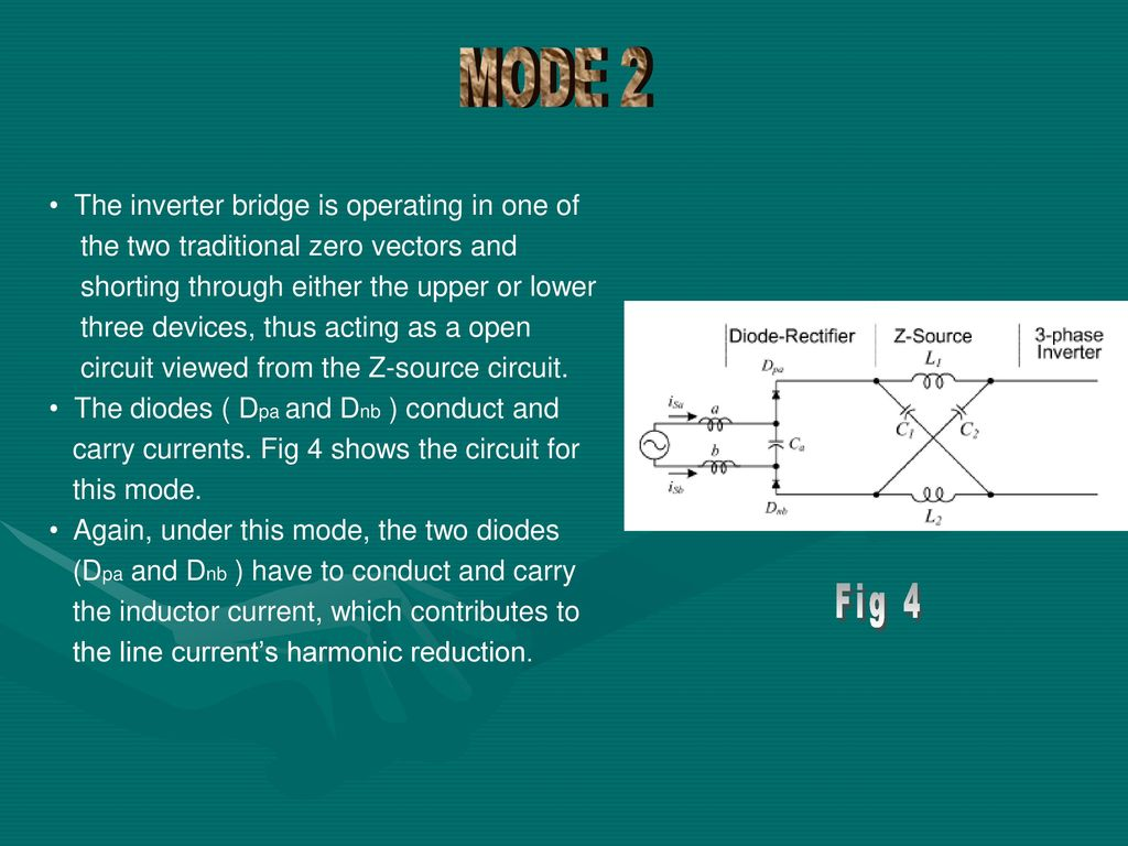 hight resolution of mode 2 fig 4 the inverter bridge is operating in one of