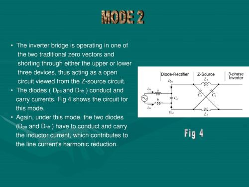 small resolution of mode 2 fig 4 the inverter bridge is operating in one of