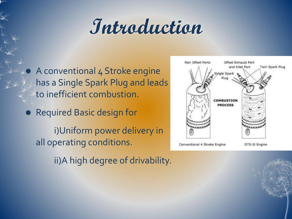 hight resolution of introduction a conventional 4 stroke engine has a single spark plug and leads to inefficient combustion