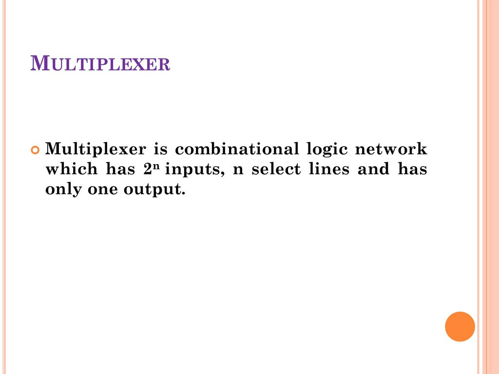 logic diagram of 8 to 1 line multiplexer m4 parts ppt download