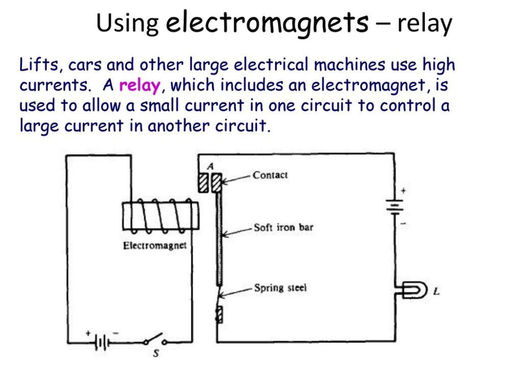 medium resolution of using electromagnets relay
