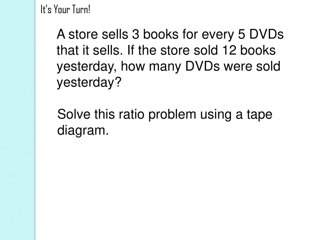 hight resolution of solve this ratio problem using a tape diagram