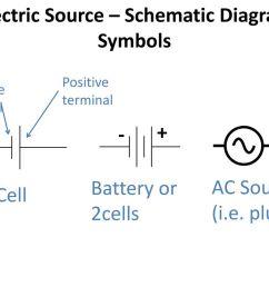 electric source schematic diagram symbols [ 1024 x 768 Pixel ]