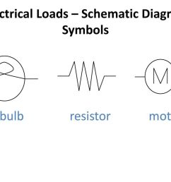 electrical loads schematic diagram symbols [ 1024 x 768 Pixel ]