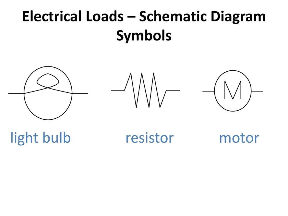 medium resolution of electrical loads schematic diagram symbols