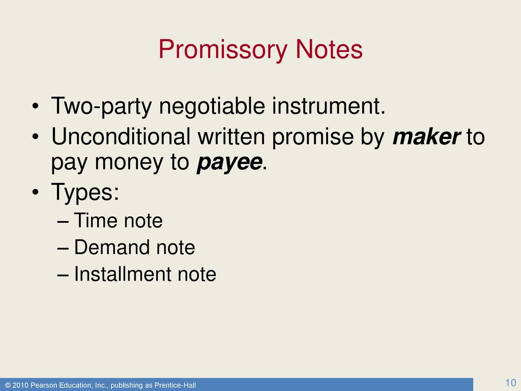 10 Promissory Notes