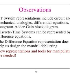 observations ct system representations include circuit and mechanical analogies differential equations and integrator  [ 1024 x 768 Pixel ]