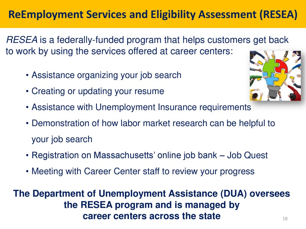 Reemployment Services And Eligibility Assessment (Resea)
