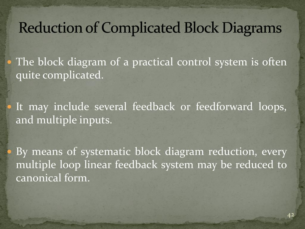 hight resolution of reduction of complicated block diagrams