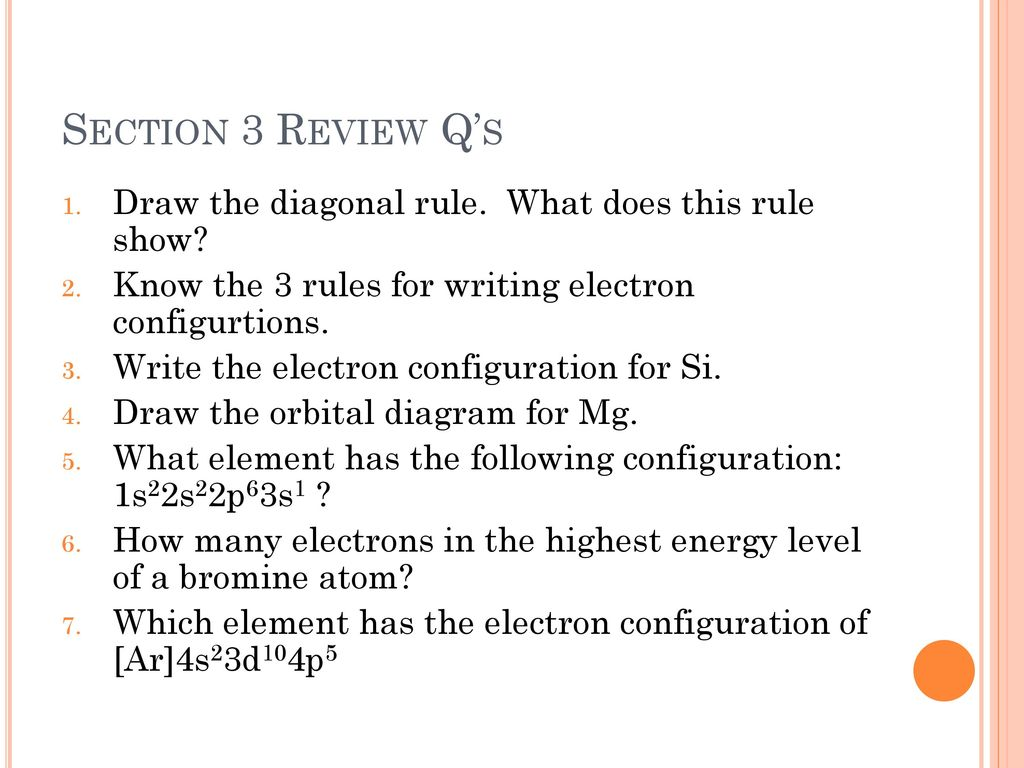 show the orbital filling diagram for bromine air ride wiring chapter 5 electrons in atoms ppt download section 3 review q s draw diagonal rule what does this