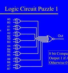 9 logic circuit puzzle 1 8 bit comparator  [ 1024 x 768 Pixel ]