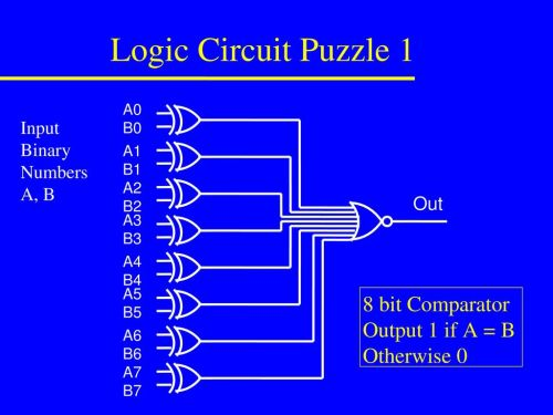 small resolution of 9 logic circuit puzzle 1 8 bit comparator