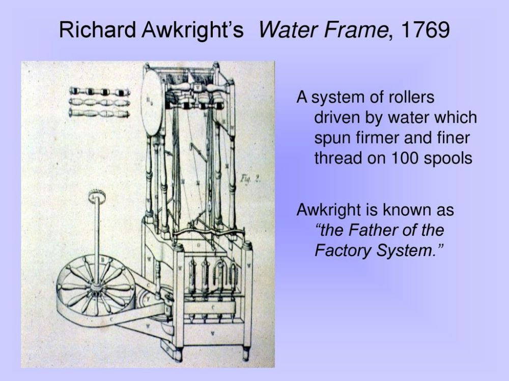 medium resolution of richard awkright s water frame 1769