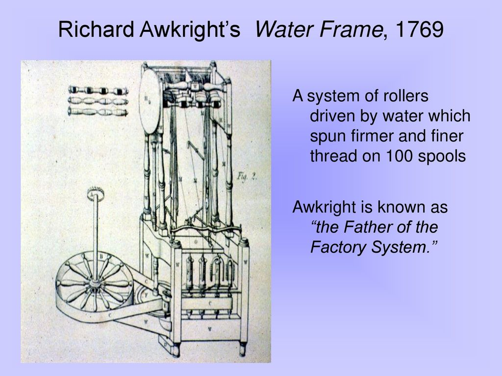 hight resolution of richard awkright s water frame 1769