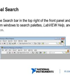 global search use the search bar in the top right of the front panel and block [ 1024 x 768 Pixel ]