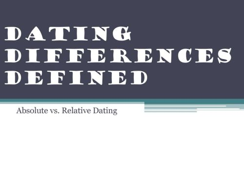 small resolution of absolute vs relative dating dating differences defined