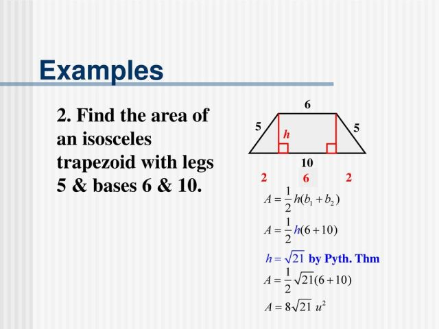 Area and Perimeter: Trapezoids Keystone Geometry - ppt download