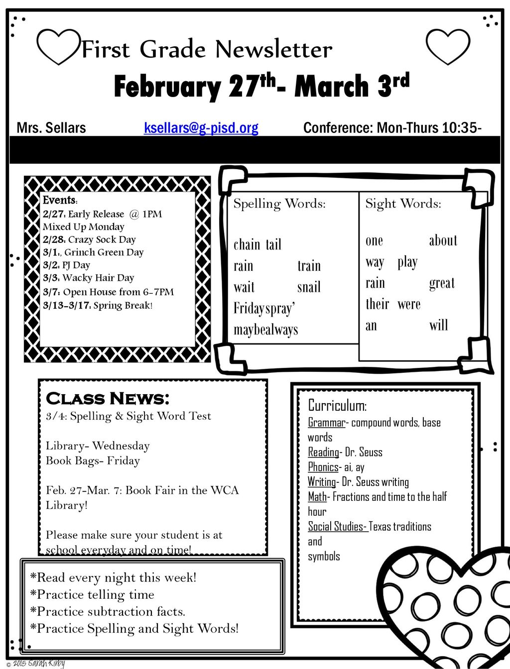 hight resolution of February 27th- March 3rd First Grade Newsletter one about chain tail - ppt  download