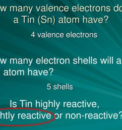 how many valence electrons does a tin sn atom have [ 1024 x 768 Pixel ]